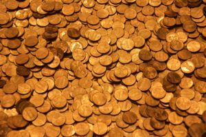 gold transformed into money